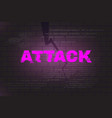 attack abstract background vector image vector image