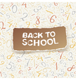 back to school on numbers seamless pattern vector image vector image