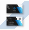 black and blue business card design vector image vector image