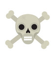 bones and skull icon flat style isolated on white vector image vector image
