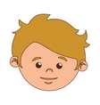 boy cartoon face blond hair isolated vector image