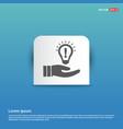 bulb concept creative idea icon - blue sticker vector image