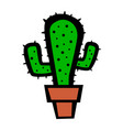 cactus plant cartoon vector image vector image