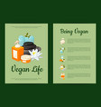 card or flyer templates set with cartoon vector image