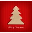Cardboard christmas tree vector image vector image