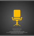 chair icon simple sign vector image