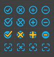 colorful confirm icons set vector image