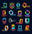 creative o icons design corporate identity signs vector image vector image
