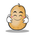 cute smile potato character cartoon style vector image vector image