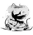 dancing bird vector image