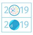 december calendar page template 2019 vector image