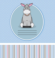 Donkey card vector image vector image