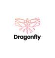 dragonfly technology geometric polygonal logo icon vector image