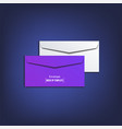 envelope mock up template vector image vector image