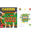 flat casino and gambling concept vector image