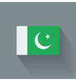 Flat flag of Pakistan vector image vector image
