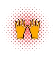 Gloves of beekeeper icon comics style vector image vector image