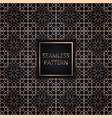 golden seamless pattern on black background vector image