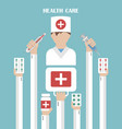 health care modern flat background vector image vector image