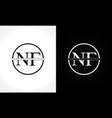 initial monogram letter nf logo design template vector image vector image