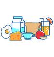 isolated breakfast design vector image