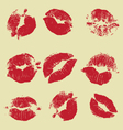 lipstick marks vector image vector image