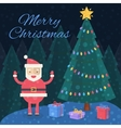 merry christmas christmas card santa claus vector image vector image