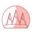 mountains peaks landscape vector image vector image