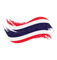 national flag of thailand designed using brush vector image