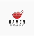 noodle ramen bowl logo icon template vector image vector image