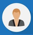 of job symbol on karate man vector image vector image