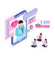 online medicine concept vector image vector image