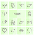 passion icons vector image vector image