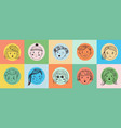 people doodle face avatar drawn faces human vector image vector image