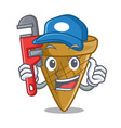 plumber sweet wafer cone isolated on maskot vector image vector image