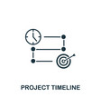 project timeline icon creative element design vector image vector image