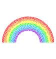 rainbow mosaic of small circles vector image