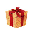 realistic cartoon gift box temlate vector image vector image