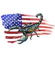 realistic scorpion cartoon vector image vector image