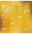 restaurant outline icons vector image