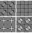 Seamless op art patterns vector image