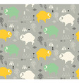 Seamless pattern with cute baby buffaloes vector image