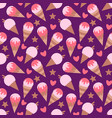 seamless texture with ice cream abstract vector image
