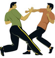 Self-defense sparring vector image