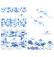Set of 4 Checkered Background vector image