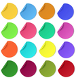 Set of glaring colour round paper stickers vector image vector image