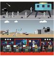 set space exploration concept posters vector image vector image