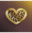 Stylish gold Valentines heart vector image vector image