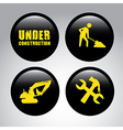 under construction over gray cream background vector image vector image