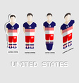 United States Soccer Team Sportswear Template vector image